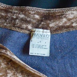 Hanro Switzerland Tops - Hanro velvet brown scoop neck top holiday